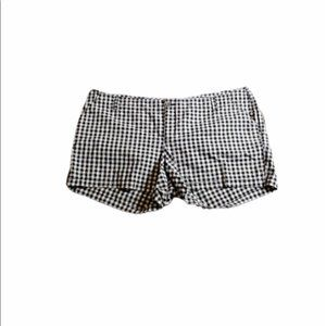 Old Navy Black and White Gingham Check Shorts 22